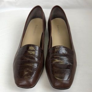 Enzo Angiolini Brown Leather Flats